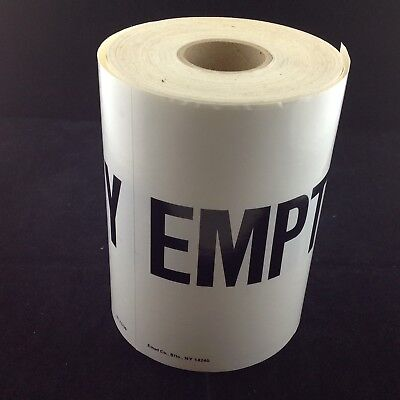 """Emed Co. 250 New """"Empty"""" Labels Stickers Adhesive 6in x 6in WL21709"""