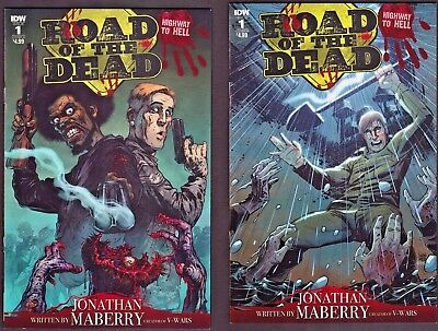 Road of the Dead Highway to Hell 1 Covers A and B 1st Print New IDW