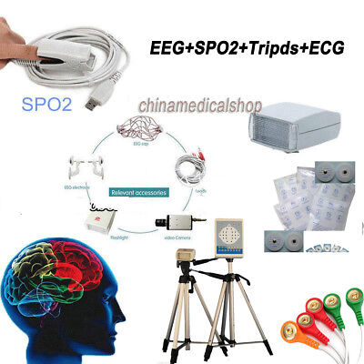 Digital Brain Electric Activity Mapping EEG Holter ECG Monitor with SPO2 Probe