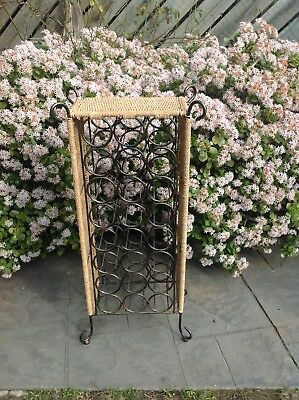 Heavy Cane And Cast Iron  Bottle Rack..holder