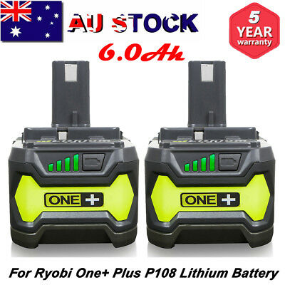 18V 6.0AH For Ryobi One+ Plus P108 Lithium-ion Battery P104 P102 RB18L50 RB18L60