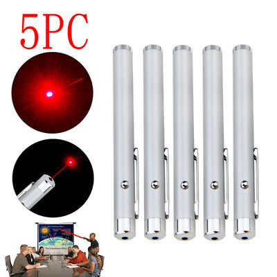 5PCS Red Laser Pointer Pen Beam Light 1mw 650nm 200M Lazer AAA Battery