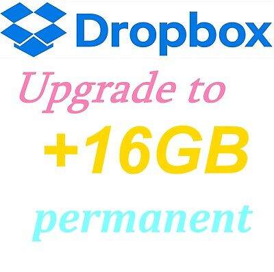 Dropbox Permanent +16GB Lifetime Space Upgrade⭐ Account Pre Upgraded By Referral