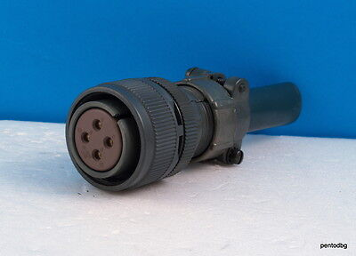 MS3106E-20-4S  4-Pin Female Connector Cable Mount Rubber Insert w//Cable Clamp