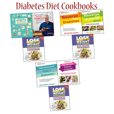 Phil Vickery's Ultimate Diabetes Diet Cookbook Collections Set Take Control NEW