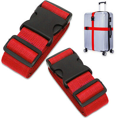 Long Cross Luggage Straps Suitcase Strap Travel Belts Easy Buckle-Quick Release