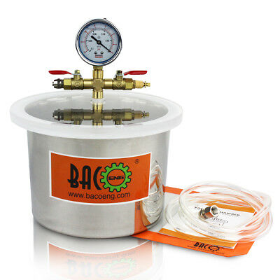 BACOENG 5.7L Stainless Steel Vacuum Chamber Ideal for Degassing Moudling Casting