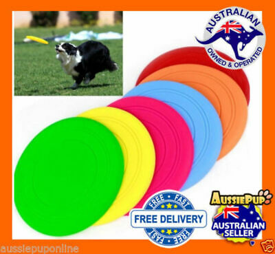 Silicone Rubber Frisbee Pet Dog Puppy Safe Exercise Fetch Toy