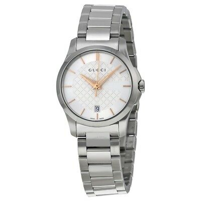 d4eeebcbcef Orologio Donna Gucci G-Timeless Ya126523 Acciaio Watch Silver Swiss Made  Classic