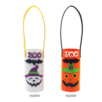 Halloween Non-Woven Wine Bottle Bag Candy Bag with Handle Halloween Party D7H5