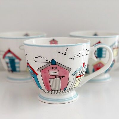 Beach Hut Fine China Mug Coffee Tea Cup Nautical Seaside Caravan Home Decor Gift