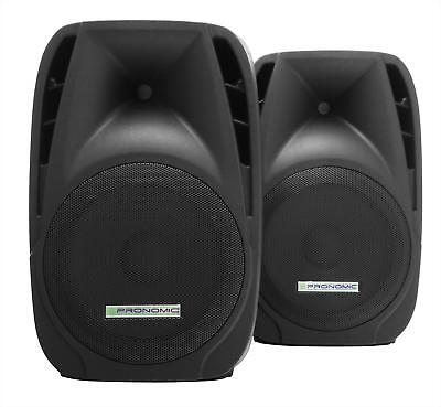 "2x Coppia Altoparlanti Casse Box Subwoofer DJ PA 3 Vie 12"" 30cm Party 600W"