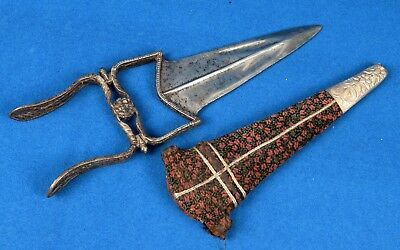 18c Genuine Old Indian Islamic Hand Crafted Beautiful Kattar Dagger. G25-104 US