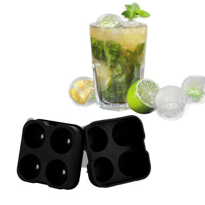 Large Ice Cube Tray Ball Maker Big plastic Mold Sphere Whiskey DIY Round Mould