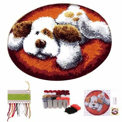 AU 50cm  Dog Latch Hook Rug Carpet Making Embroidery Kit DIY Handmade Home Decor
