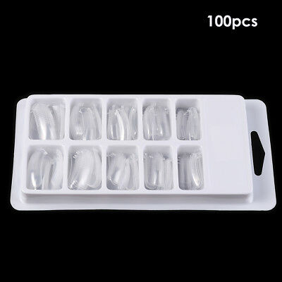100Pcs Quick Building Poly Gel Nail Forms Mold Tips Extension Dual Nail Art Tool
