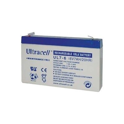 Ultracell UL7-6 : Batterie au plomb étanche 6V 7AH :151x34x944mm