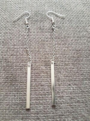 Sterling Silver Stamped 925 Earrings Dangle Style set of 2 2.99