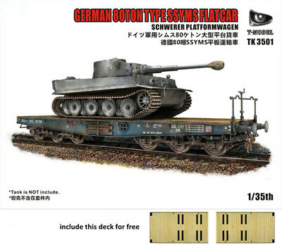 Pre-Order T-Model TK3501-I 1/35 WWII German 80ton SSYMS Flatcar Assembly Model