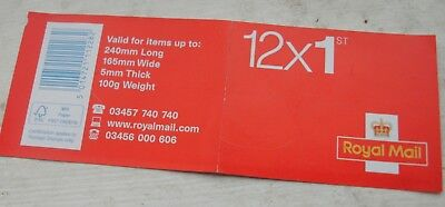 12 x Royal Mail 1st First Class Stamps - Free Postage - CHEAP