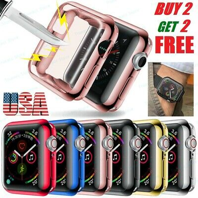 Screen Protector Case Bumper Cover for Apple Watch Series 4 40mm 44mm iWatch
