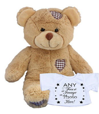 Personalised Custom Teddy Bear Any Text Photo Logo Birthday Baby Girl Boy Gift