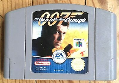 Cartouche Seule The World Is Not Enough 007 Nintendo 64 Pal Euro N64 James Bond