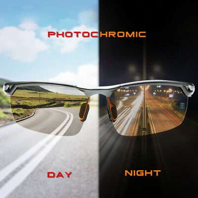 Men Polarized Photochromic Sunglasses Day Night Driving Glasses Fishing Eyewear