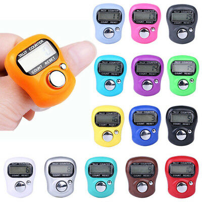 Mini LCD Digital Hand Ring Counter Finger Tally Clicker Electronic Knitting Tool