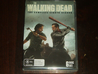 DVD The Complete Eighth Season of The Walking Dead on 6 discs Reg 4