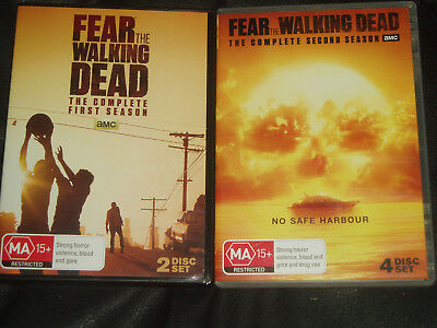 DVD The Complete First & Second Season of Fear the Walking Dead Reg 4 on 6 discs
