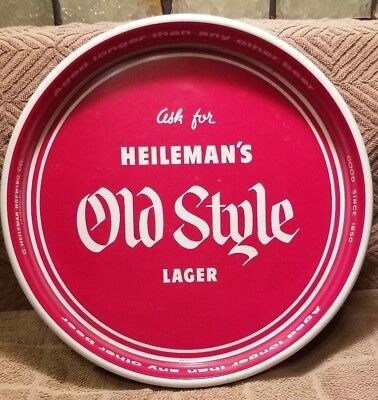 """Vintage Old Style Lager Beer Tray 13"""""""