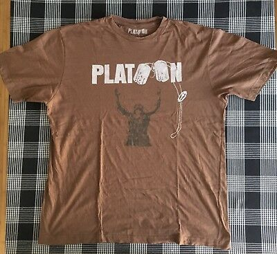Platoon shirt tshirt XL vintage guerre vietnam nam war movie