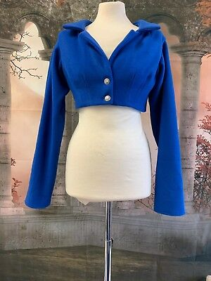 Royal Blue Cashmere/ Wool Blend Regency Style  Spencer