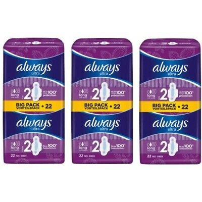 Always Ultra Long Serviettes Hygiéniques Tampons Taille 2 Ailes Femmes Absorbant