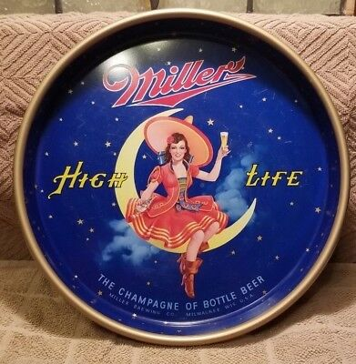 """Miller High Life Beer Tray 13"""""""