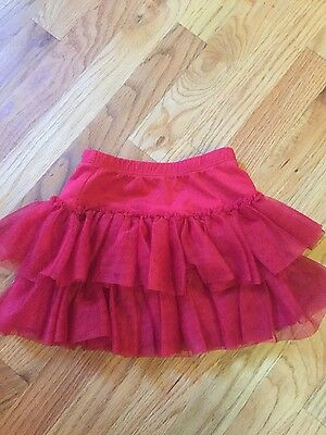 Hanna Andersson red layered skirt size 90 scooter skirt with tool layers