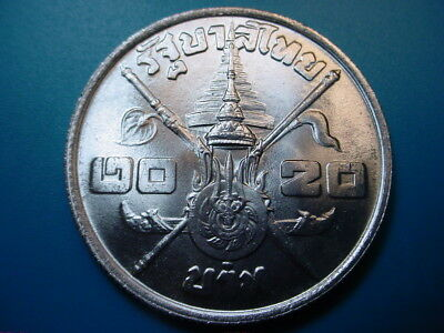 Thailand~ Silver 1963 20-Baht in Brilliant Uncirculated Condition!