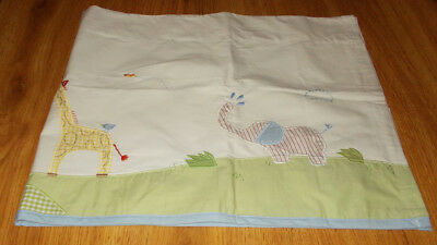 Pottery Barn Kids Valance Elephant Monkey HIppo Giraffe Jungle Safari Animals