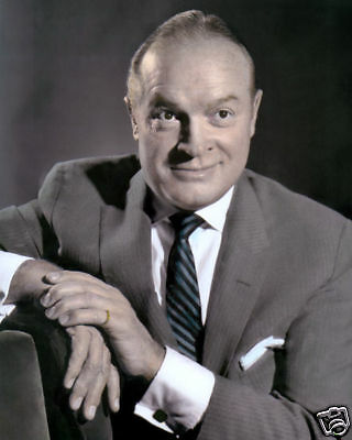 "BOB HOPE BRITISH BORN HOLLYWOOD ACTOR COMEDIAN 8x10"" HAND COLOR TINTED PHOTO"