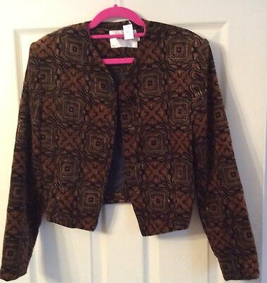 Vintage Cropped Velvet Jacket Small