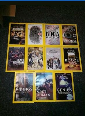 National Geographic Magazines bundle 12 2016-2017 Good Condition Joblot Science