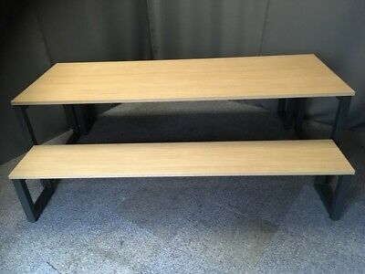 Used - Senator Table and 2 Benches - Oak