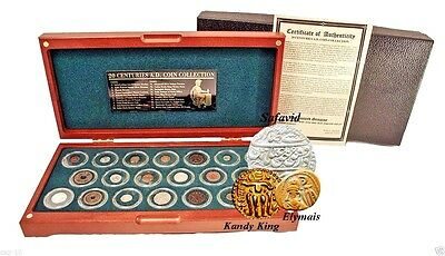 20 Centuries AD,20 Coin Collection From Each Century of The Common Era Boxed Set