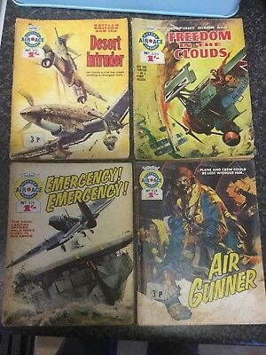 AIR ACE PICTURE LIBRARY COMICS #317#376#454#336 Read Details