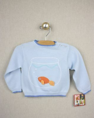 NEW Zubels Hand-crafted Goldfish Sweater 12 months *LAST ONE* Boys Knit