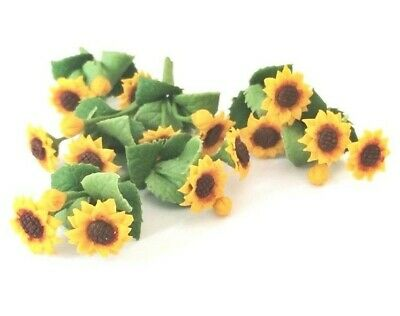 6x Sunflower Flowers Artificial Clay Miniature Dollhouse Collectibles Decor #005