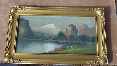 Very Rare old painting of the YOSEMITE VALLEY signature not legible