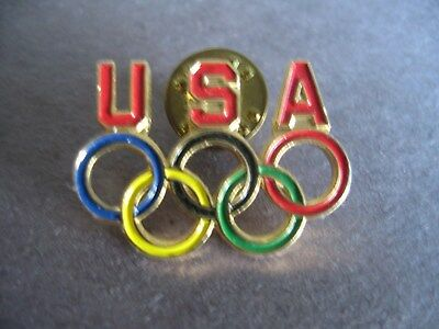 United States Olympic Committee Pin Usoc Rings 1970s 1980s Fan Apparel & Souvenirs