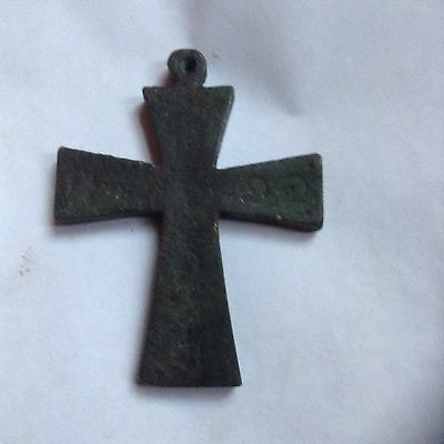 Victorian Grand Tour Medieval Bronze Or Brass Religious Cross - Very Rare!